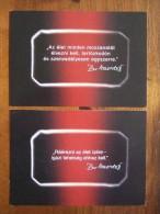 Davidoff Parfum Boomerang Hungary Edition Lot De 2 Cartes Postales - Modern (from 1961)