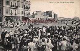 ALGERIE - ORAN -  Fête Au Village Nègre - Lot De 2  - 4 Photos  - 1910 - Oran