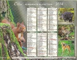 Almanach de la Poste 2014 (animaux)
