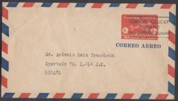 1949-EP-34. CUBA REPUBLICA. 1949. CORREO AEREO. 8c. Ed.99. SOBRE USADO EN LA HABANA - Cuba