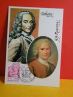 FDC- Carte Maxi, Voltaire/J. J. Rousseau - ........ - 1.7.1978 -1er Jour,coté 2 € - Cartes-Maximum