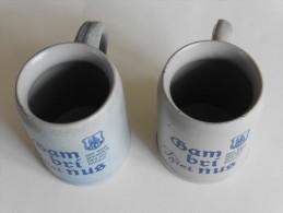2 Chopes  à  Bière  En Grès : Gambrinus Pour Collectionneurs - Dishware, Glassware, & Cutlery
