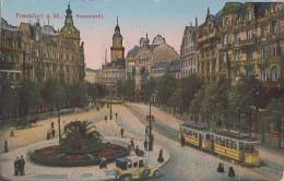 Ak Frankfurt A. M. Rossmarkt Color Gelaufen 16.6.23 Auto, Strassenbahn - Frankfurt A. Main