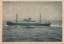 AK Motorschiff Presidente Gomez Horn-Linie Gelaufen 1.1.30 In Schweiz - Dampfer