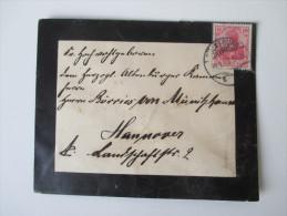 DR 1903 Brief An Börries Freiherr Von Münchhausen! Adel. Deutscher Schriftsteller! Trauerbrief. Literat. Lyriker - Königshäuser, Adel