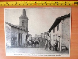 DOCUMENT PHOTO MILITAIRES ALLEMANDS CUNEL VERDUN BESETZUNG DER KLEINEN ORTSCHAFT CUNEL VOR VERDUN DURCH DEUTSCHE TRUPPEN - Vieux Papiers