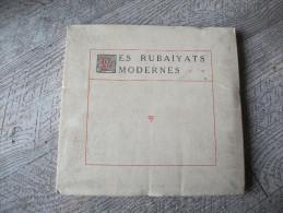 Les Rubaiyats Modernes Anonyme 1924 Essai Critique Baron Garofolo Venise