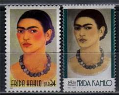 Mexique - Etats-Unis  Emission Commune En L'honneur Du Grand Peintre Frida Kahlo. 2 T-p Neufs ** - Mexiko
