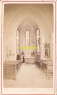 PHOTO CDV CARTE DE VISITE ** FONTAINE LANGRES EGLISE INTERIEUR - Antiche (ante 1900)