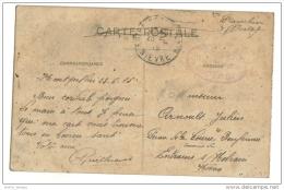 Franchise Militaire  1914 Cachet Dépot 11 ème Génie - Poststempel (Briefe)