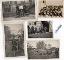 5 PHOTOS  - SCOUTISME  FEMININ -  CHATEAU  D´ARGERONNE -  LA  HAYE  MALHERBE  (27)  Avril  1930 - Lieux