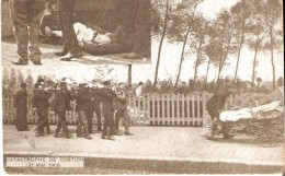 KONTICH-CONTICH (2550) - CATASTROPHE - Chemins De Fer : Catastrophe Ferroviaire Du 21 Mai 1908. Transport Des Blessés. - Kontich