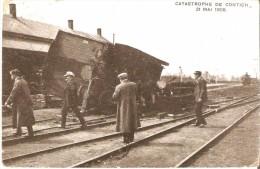 KONTICH-CONTICH (2550) - CATASTROPHE - Chemins De Fer : Catastrophe Ferroviaire Du 21 Mai 1908. Un Wagon Renversé. - Kontich
