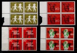 Bund: Aus 1956- 58, IPA, Wilhelm Busch + Waldbrandverhütung Im 4er  Postfrisch/**/MNH ! - Nuovi