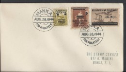 Manila 1944 First Day Cover Cancelled With'Manila  – 28 Aug 1944 - Philippines