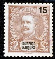 !■■■■■ds■■ L.Marques 1898 AF#35(*) Mouchon 15 Réis Brown (x3268) - Lourenco Marques