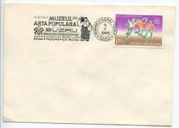 Romania- Mi. No. 4060 On Cover - Regional Folk Art Postmark - Kostums