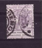 ITALY 1924 Cassa Nazionale Assicurazioni Sociali 50 Cent. Sassone N° 28 Very Fine Used - 1900-44 Victor Emmanuel III.