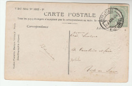 1908 PORTUGAL Stamps COVER (emaillographie Postcard Lady,  Easter Greetings) - 1910 : D.Manuel II