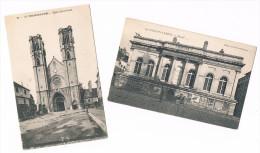 CHALON  Sur  SAONE . 71 . église + Musée . Lot De 2 Cartes . - Chalon Sur Saone