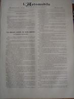 L AUTOMOBILE/ /BAYARD CYLINDRES/ANTIDERAPANT MERLAND /MOTOCYCLETTES ALCYON BRUNEAU  DOUE LURQUIN COUDERT - Livres, BD, Revues