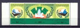 Libya 1986 -Strip Of 3 Stamps -   Peoples' Authority Declaration - Libya