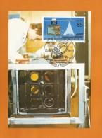 DDR 1986  Mi.Nr. 3008 , 25 Jahre Bemannter Weltraumflug - Maximumkarte - 25.03.1986 - - DDR