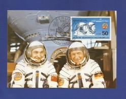 DDR 1986  Mi.Nr. 3006 , 25 Jahre Bemannter Weltraumflug - Maximumkarte - 25.03.1986 - - DDR