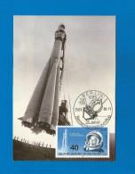 DDR 1986  Mi.Nr. 3005 , 25 Jahre Bemannter Weltraumflug - Maximumkarte - 25.03.1986 - - DDR