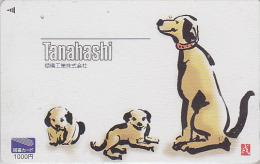 Carte Prépayée Japon - ZODIAQUE Chinois - CHIEN / Tanahashi - DOG Horoscope Japan Prepaid Tosho Card - HUND - 713 - Zodiaco