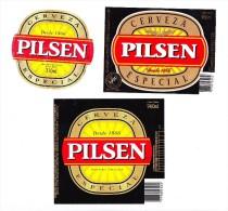 ® Etiquetas URUGUAY: 3 PILSEN (ver Fotos) - Beer