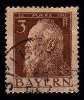 BAVARIA - Scott #77 Prince Regent Luitpold / Used Stamp - Bavaria