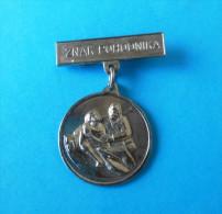 WW2 Yugoslavia Partisans Army - ZNAK POHODNIKA ( Rare Medal ) * Partisan Partizans Partizan Partigiano - Medals