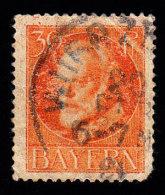 BAVARIA - Scott #104 King Ludwig III / Used Stamp - Bavière