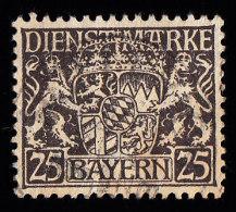 BAVARIA - Scott # O15 Coat Of Arms / Used Stamp - Bavière