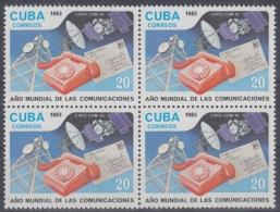 1983.22 CUBA MNH. 1983. BLOCK 4. AÑO MUNDIAL DE LAS COMUNICACIONES  WORLD YEAR OF COMMUNICATIONS. TELEFONO. TELEPHON  CO - Cuba