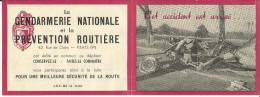 Dépliant Gendarmerie Et Prévention Routière, Sécurité Route, Accident, BEAUNE, 1953. - Oude Documenten
