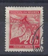 Germany (Bohmen Und Mahren) 1939/42  Freimarken; Lindenzweig  (o) Mi.22 - Besetzungen 1938-45