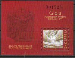 "2007 Albanien      Mi.  Bl.  167  ** MNH "" GEA "" Very RAR - Albanien"
