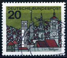 A10-12-7) BRD - Michel 426 - OO Gestempelt (B) - Landeshauptstädte Stuttgart - [7] West-Duitsland