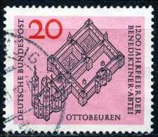 BRD - Michel 428 - OO Gestempelt (A) - 1200 Jahre Benediktinerabtei Ottobeuren - [7] West-Duitsland