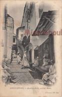 ALGERIE - CONSTANTINE -  Quartier Arabe, Un Café Maure  - Dos Vierge Précurseur  -  2 Scans - Constantine