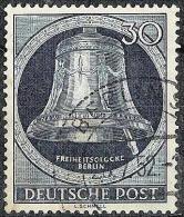 Glocke II 1951 ( Klöppel Rechts): Michel-No 85 Mit Luxus-o BERLIN 28.7.52 (Michel 50 Euro) - [5] Berlín