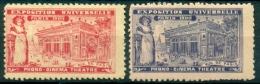 2 Vignettes **. Rue De Paris : Phono Cinéma Théâtre. Expo Universelle PARIS 1900. - 1900 – Paris (France)