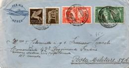 1941  LETTERA POSTA MILITARE CON ANNULLO TORINO FERROVIA POSTA AEREA - 1900-44 Victor Emmanuel III.