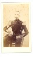Sous-Officier De L'Armée Impériale Vers 1865 - Portraitcdv Anonyme - Dos Vierge - Cartonnage Inférieur à 5mm. - Guerre, Militaire