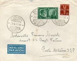 1941  LETTERA POSTA MILITARE CON ANNULLO MUGGIA TRIESTE - 1900-44 Victor Emmanuel III.