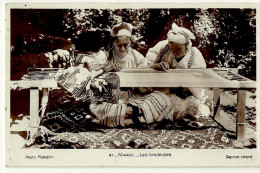 Maroc CPA Photo Les Brodeuses Animation Metier Tradition Ethnologie - Morocco