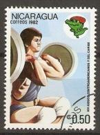 NICARAGUA     -     1982.     HALTEROPHILIE  .   Oblitéré - Pesistica