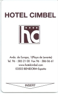HOTEL  CIMBEL, CASINO MEDITERRANEO  EN REVERSO, Llave Clef Key Keycard Karte - Hotel Labels